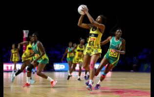 Jamaica's Rebekah Robinson in action during their Netball World Cup match against Zimbabwe at the M&S Bank Arena, Liverpool, England, Friday, July 19, 2019.