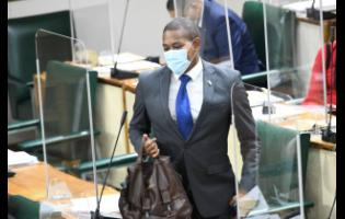 Floyd Green arriving at Parliament hours after his resignation as minister of agriculture and fisheries on Wednesday.