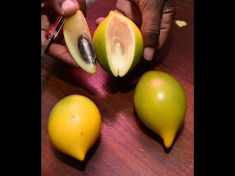 The Abiu fruit, which is a tropical fruit native to South America.